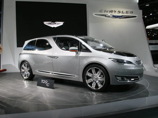 The Chrysler 700 C concept minivan on display at the