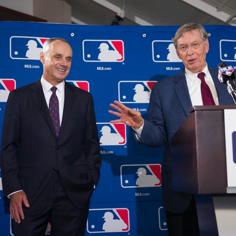 Rob Manfred inherits a prosperous and peaceful industry, but challenges remain.