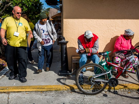 The annual homeless count by The Hunger & Homeless Coalition of Collier County takes place at Guadalupe Social Services in Immokalee on Jan. 25, 2018.