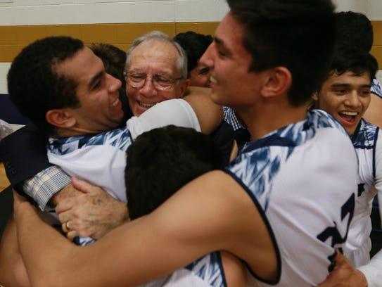 Cathedral High School basketball coach Tony Harper