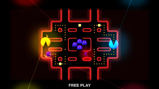 """'Pac-Man Battle Royale,' from 2013's """"Pac-Man Museum"""" on Xbox 360 and PlayStation 3."""