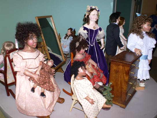 Historic dolls are made from cloth, paper clay.
