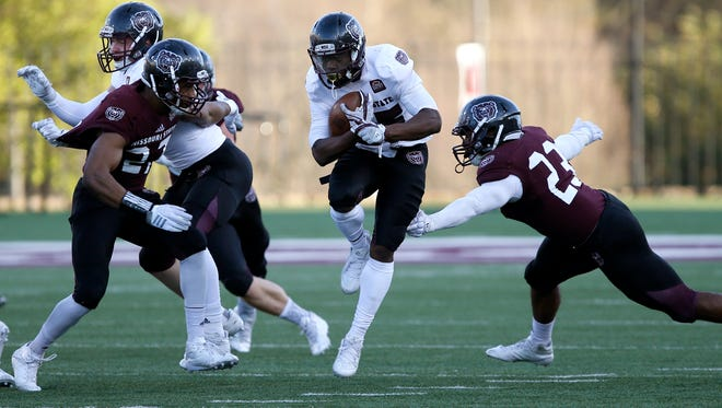 The Missouri State Bears Maroon and White spring exhibition game at Plaster Stadium on Thursday, April 19, 2018.