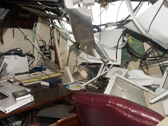 Commanding Officer Bryce Benson, a Green Bay native was sleeping inside this stateroom when his ship collided with a merchant vessel off Japan in June 2017.