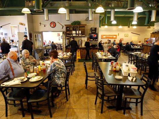 The interior of the Cedars Restaurant location on Campbell Avenue is shown in a file photo.