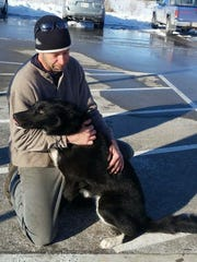 Decoy shows affection towards his owner, Lance Alfredson,