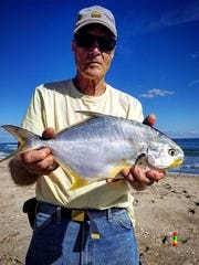 Steve Simms of Cincinnati caught this African Pompano while fishing with Jayson Arman of That R Man Fishing Charters.