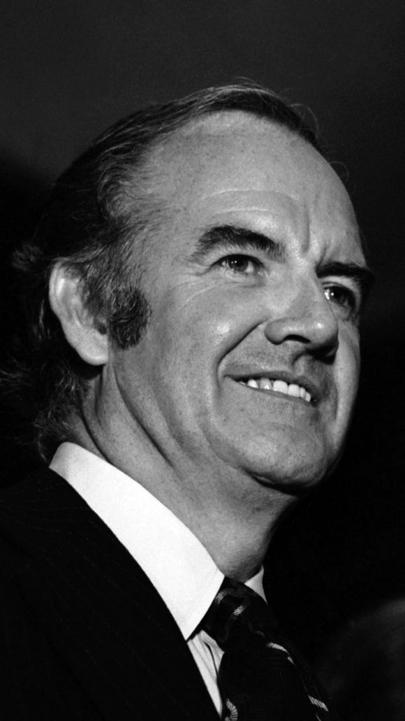 George McGovern was the Democratic nominee for president