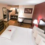 Wi-Fi in rooms such as this new premium King room at a Red Roof Plus+ will be verified by a third party.