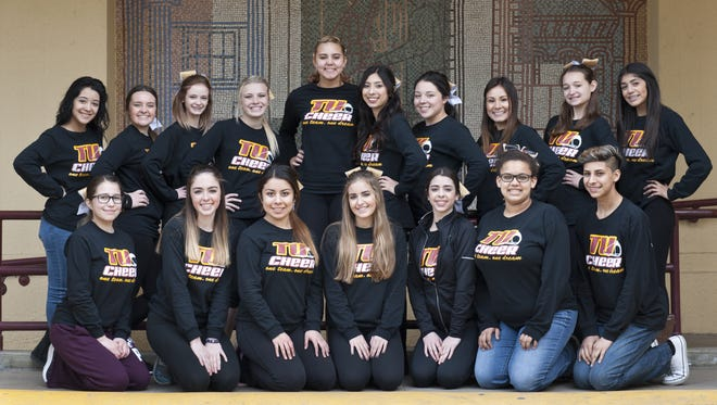 The Tulare Union High School competition cheerleader squad competed at the UCA National High School Cheerleading Championship on Feb. 6-7 at Walt Disney World Resort in Orlando, Fla.