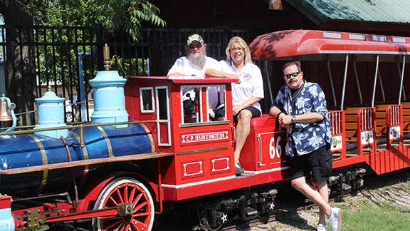 Frank Crow, Bridgett Leonard Robertson and Steve Sherrick, left to right, are on a mission to pass on the tradition of Bartlesville's Kiddie Park to new generations. Kim Archer/Examiner-Enterprise