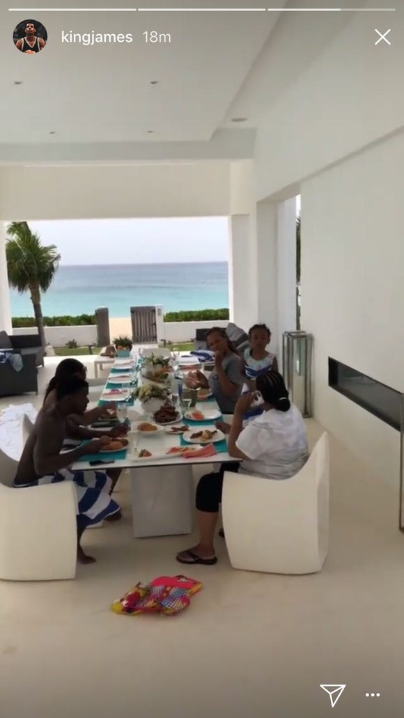 LeBron James is posting video from his Anguilla beach house as everyone freaks out about free agency