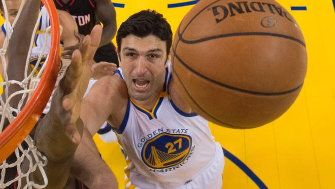 This is Pachulia's first season with the Warriors.