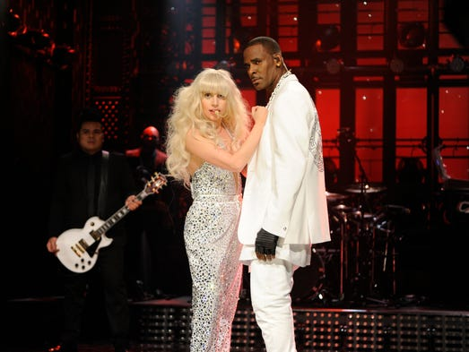Comedy wasn't the only thing that stood out on late-night TV this year. Some of the biggest artists on the planet performed shows that were spectacles in their own right. Lady Gaga and R. Kelly performed a sexually charged, acrobatic version of 'Do What U Want' on 'Saturday Night Live.'