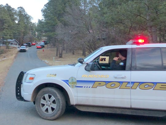 Ruidoso Police blocked Old Lincoln Road to keep traffic