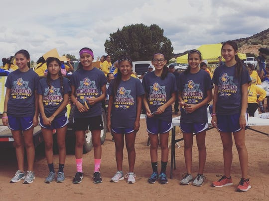 The Kirtland Central girls cross-country team placed first at the Zuni Invitational on Saturday.