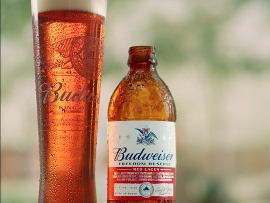 Budweiser new Freedom Reserve bottle and glass
