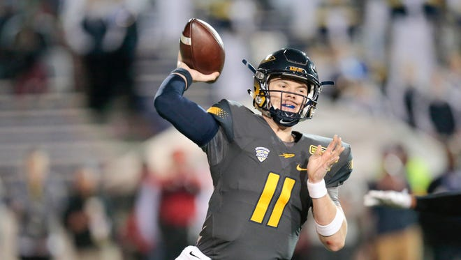 The Bengals took Toledo Rockets quarterback Logan Woodside in the seventh round of the 2018 NFL Draft.