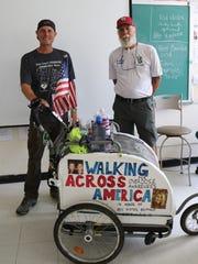 Brett Bramble (left) showed students at Westfield High