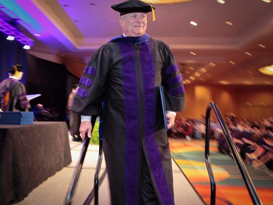 Nashville School of Law graduate Jim Edwards of Murfreesboro earned his degree at age 75.