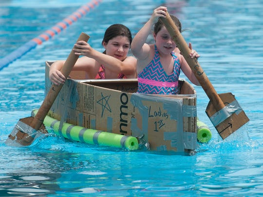 Emily and Sarah Branch compete in the Independence