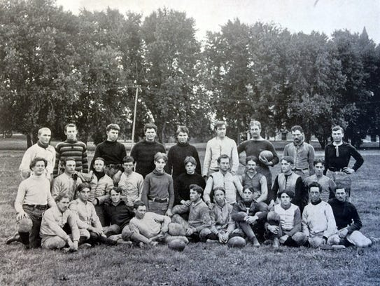 Iowa State's 1896 Cyclones football team (playing for