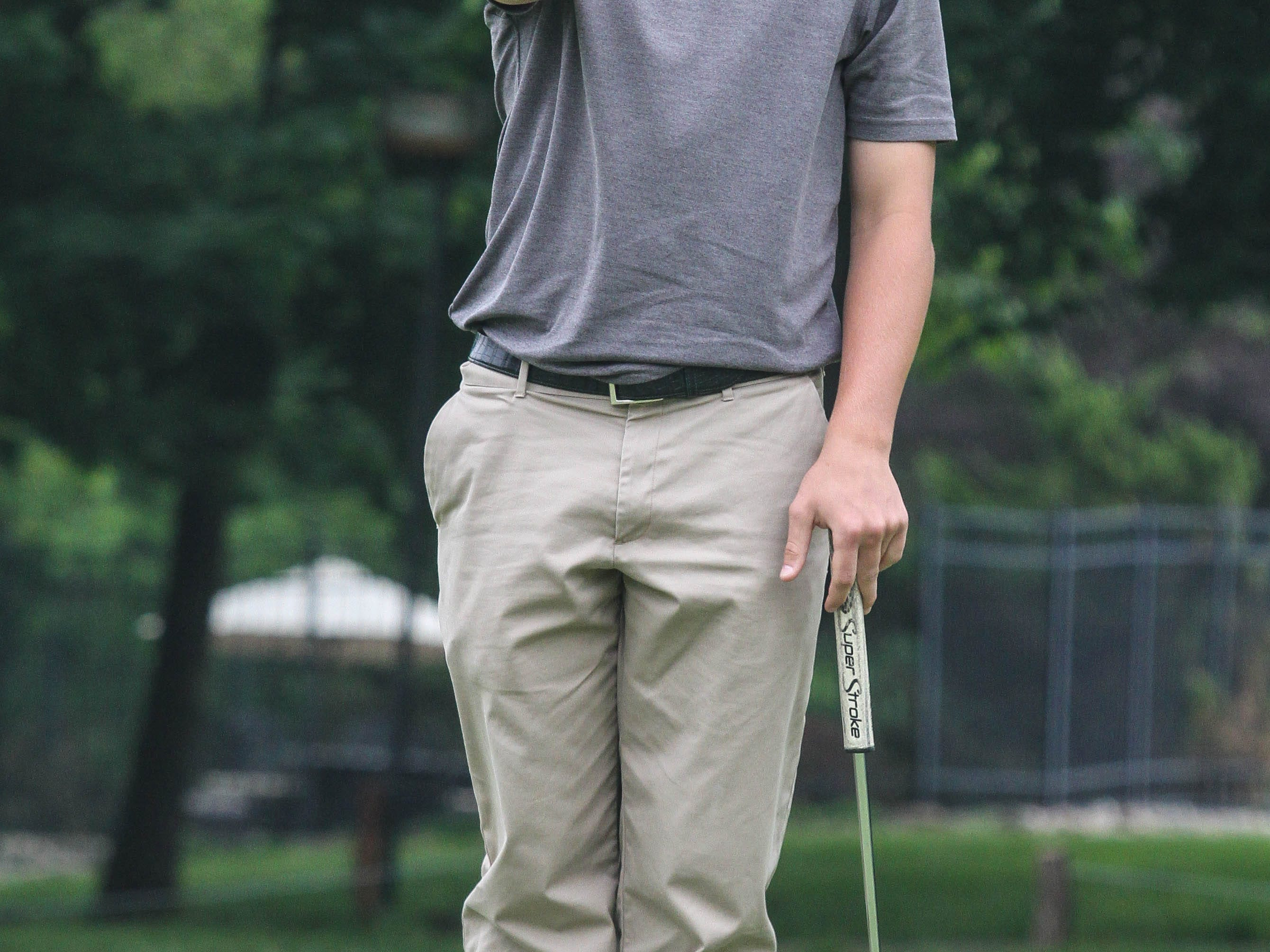 Delbarton's Will Voetsch lines up a putt on the fourth hole during the NJSIAA Tournament of Champions at Hopewell Valley Golf Club on Monday.