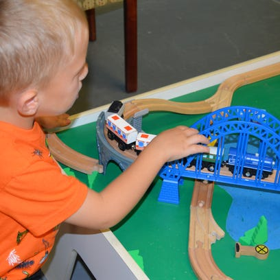 """Zephaniah Coleman (2) and his mother Marquand visit the T.R.E.E. House Children's Museum so they can spend quality time together. """"It's a fun place for him to learn and play,"""" she said. (Sept. 24, 2016)"""
