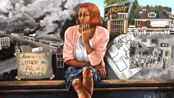 """""""On the Edge"""" by Carole Morisseau is part of """"Now and Then: Artists Contemplate the Summer of 1967"""" at Detroit Artists Market."""