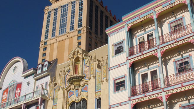 The exterior of Caesars Atlantic City, where eSports enthusiasts will compete for $200,000 in prize money next weekend.