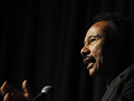 Honoree John Flowers speaks at the Martin Luther King Jr. Breakfast in 2012.
