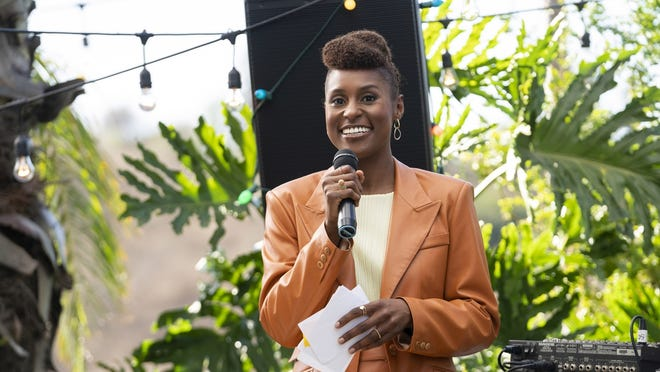 "Issa Rae in a scene from the fourth season premiere episode of ""Insecure."" Nominations for the next Emmy Awards will be announced Tuesday."