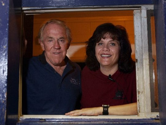 Holiday Twin Drive-In owners Wes and Stephanie Webb in 2004.