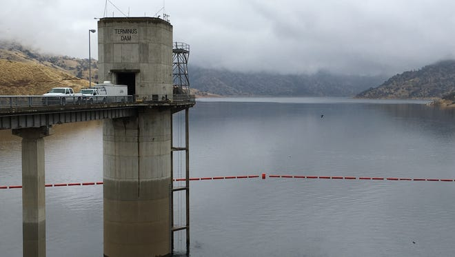 Terminus Dam tower was flooded in May 2016 and a multi-million dollar fix, which was completed last year.