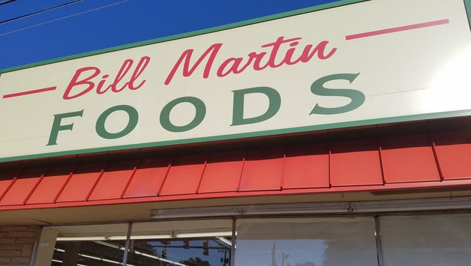 Front view of the Bill Martin grocery store in Greenbrier.