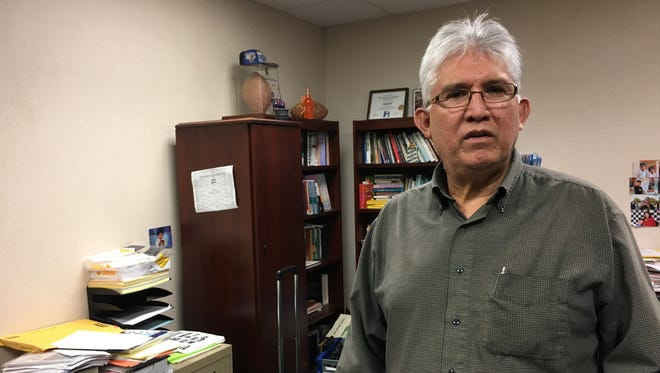 Joe Almanza has conversations with people on the streets or at Highland Church of Christ congregations at Freedom Fellowship on Chestnut Street or Grace Fellowship on Cypress Street.