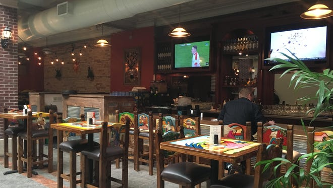 The bar area of Presidente Mexican Kitchen in downtown Green Bay. The restaurant opened Feb. 13.