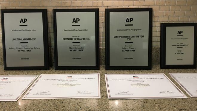 The El Paso Times won several awards at the Texas APME conference.