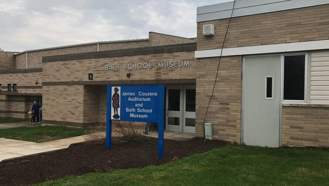 The Bath School Museum is located in the front hallway of Bath Middle School.