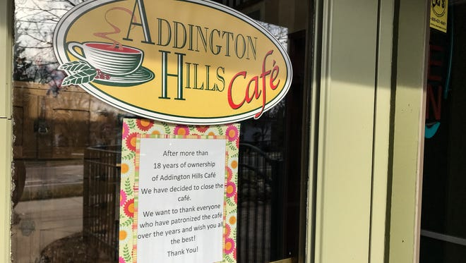 Addington Hills Cafe closed on Saturday after 18 years.