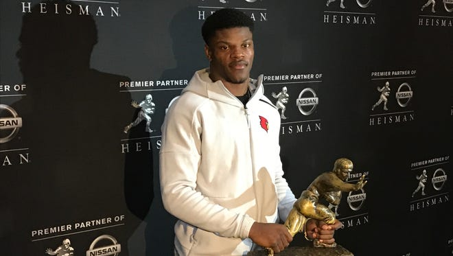 Lamar Jackson returned to New York City for his second straight Heisman Trophy ceremony Friday.