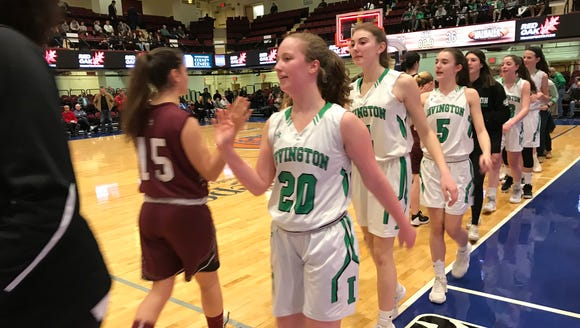 Abby Conklin (5) and Irvington defeated Valhalla in