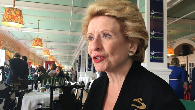 U.S. Sen. Debbie Stabenow on Wednesday, May 30, 2018, at the Detroit Regional Chamber's Mackinac Policy Conference on Mackinac Island, Mich.