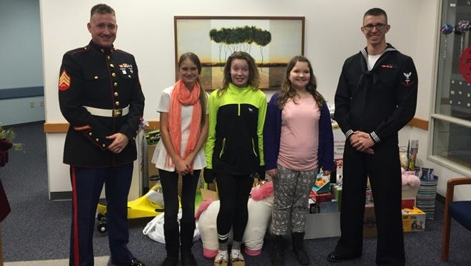Students at D.C. Everest Middle School collected more that 650 items for the U.S. Marine Corps Reserve Toys for Tots Program.