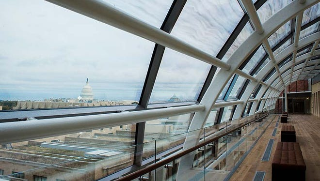 View of U.S. Capitol from the Museum of the Bible.