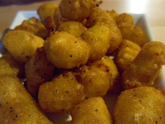 The Fletcher's cheese curds come with a honey mustard