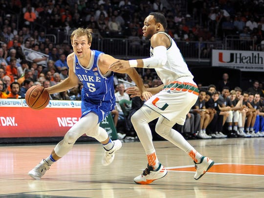 Luke Kennard, sophomore shooting guard, Duke. 6 feet 6, 202 pounds. Surprisingly emerged as the Blue Devils' best player last season. Lefty who can handle the ball and shoot off the dribble and off the catch. 2016-17 stats: 19.5 points, 5.1 rebounds, 2.5 assists in 35.5 minutes. Shot 43.8% from three (88-for-201). Mock drafts: 18th on DraftExpress, 18th on ESPN.