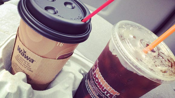 Several shops including Wawa and Dunkin Donuts, offered free coffee on National Coffee Day, Sept. 29, 2014.