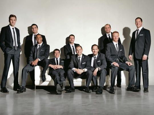 A capella group Straight No Chaser is seen in a promotional