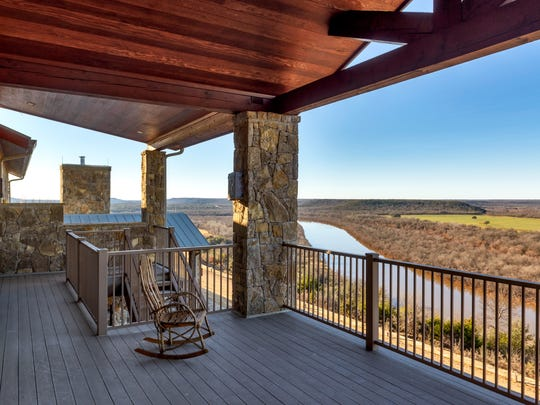 A scenic view of the Brazos River is seen from a balcony at Wildcatter Ranch and Resort south of Graham. The property is for sale and has been listed at $14.975 million with Briggs Freeman Sotheby's International Realty.